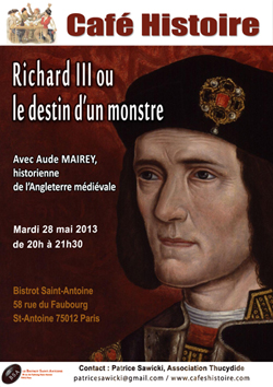 "Affiche ""Richard III ou le destin d'un monstre"""
